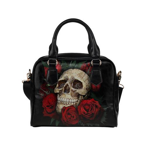 red-rose-skull Shoulder Handbag (Model 1634)