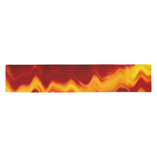 WAVEY FLAME Table Runner 14x72 inch