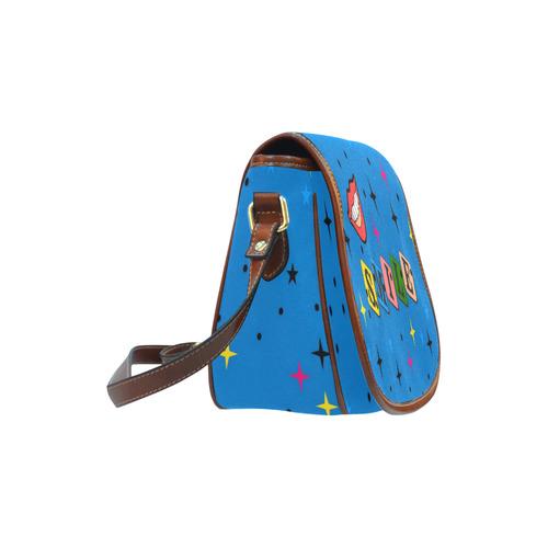 Smile Popart by Popart Lover Saddle Bag/Large (Model 1649)