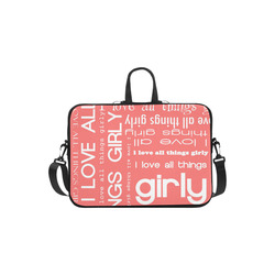 014dff8842ea2 I Love All Things Girly Typography Collage Laptop Handbags 13