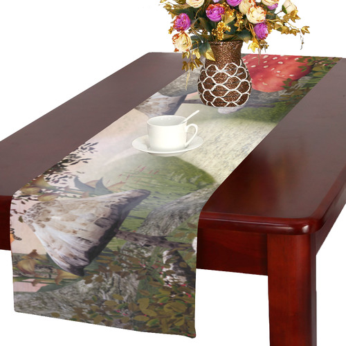 Enchanted Nature Footpath Table Runner 16x72 inch