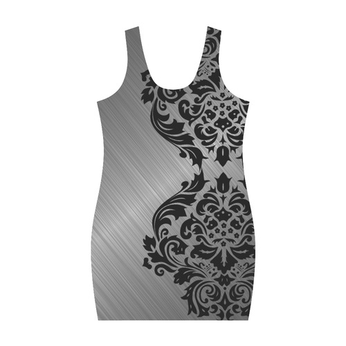 Metallic and Damask Medea Vest Dress (Model D06)