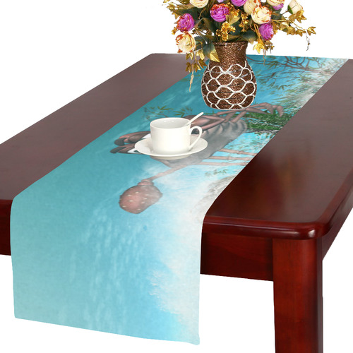 Funny cartoon crab Table Runner 16x72 inch