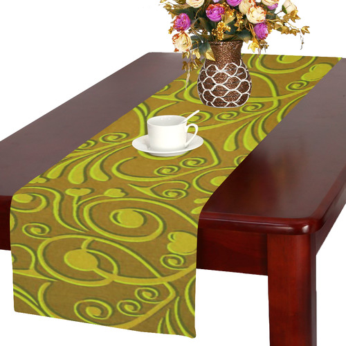 sweet hearts,olive Table Runner 16x72 inch