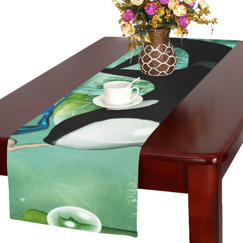 Orca with mermaid Table Runner 16x72 inch