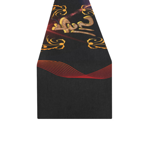 Hieroglyph, the tiger Table Runner 16x72 inch