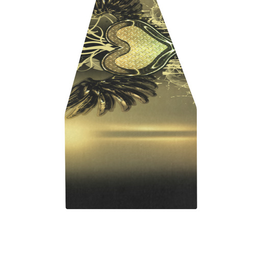 Love, heart with wings Table Runner 16x72 inch