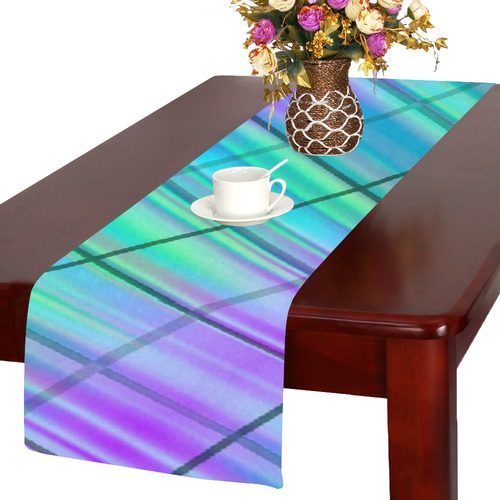 modern plaid 9 Table Runner 14x72 inch