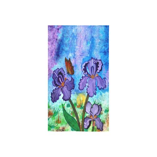 """Iris at Sunrise Custom Towel 16""""x28"""""""