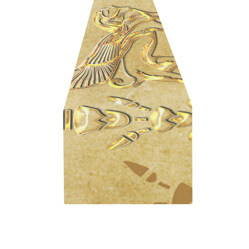 Wonderful egyptian sign in gold Table Runner 16x72 inch