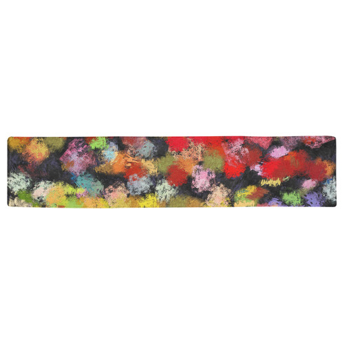 Colorful paint strokes Table Runner 16x72 inch