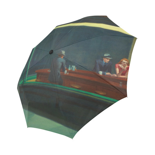 Edward Hopper Nighthawks American Realism Auto-Foldable Umbrella