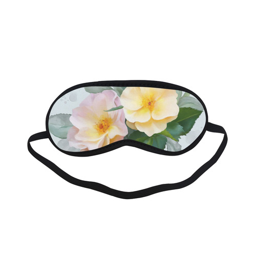 Wild Roses, floral watercolor Sleeping Mask