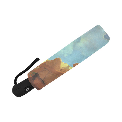 Maxfield Parrish Spring Morning Fine Art Auto-Foldable Umbrella