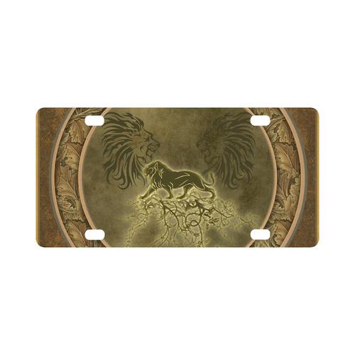 Lion with floral elements, vintage Classic License Plate