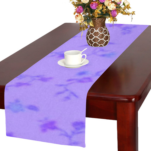 Blurred floral C  by JamColors Table Runner 16x72 inch