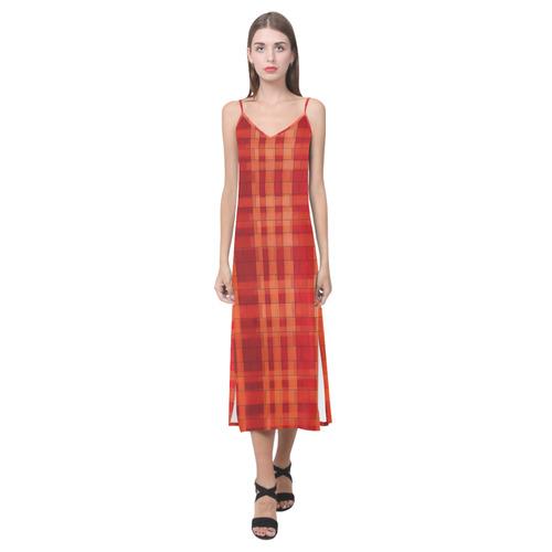 Wall by Artdream Classic V-Neck Open Fork Long Dress(Model D18)