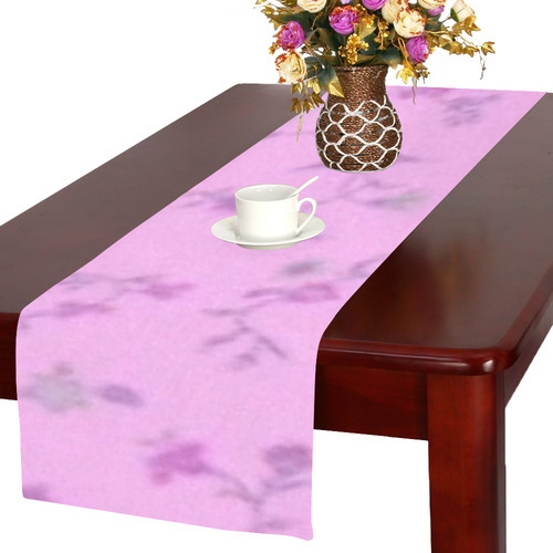 Blurred floral B, by JamColors Table Runner 16x72 inch