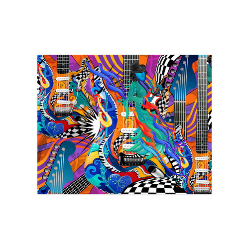 "Rock Band Colorful Electric Guitar Musician Pop Art Print Poster 20""x16"""