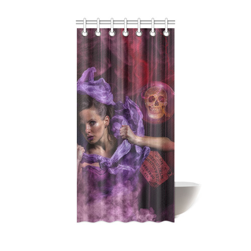 The Ritual Of A Witch Called Ghost Shower Curtain 36x72