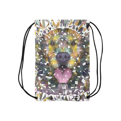 "rainbow dog Small Drawstring Bag Model 1604 (Twin Sides) 11""(W) * 17.7""(H)"