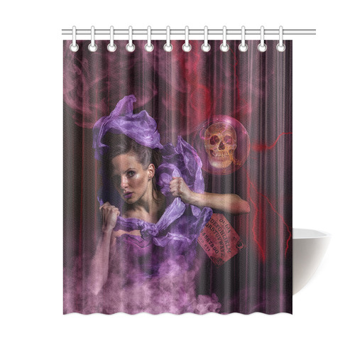 The Ritual Of A Witch Called Ghost Shower Curtain 60x72