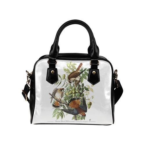 Audubon American Sparrow Hawk Birds of America Shoulder Handbag (Model 1634)