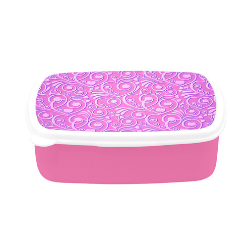 sweet hearts, hot pink Children's Lunch Box