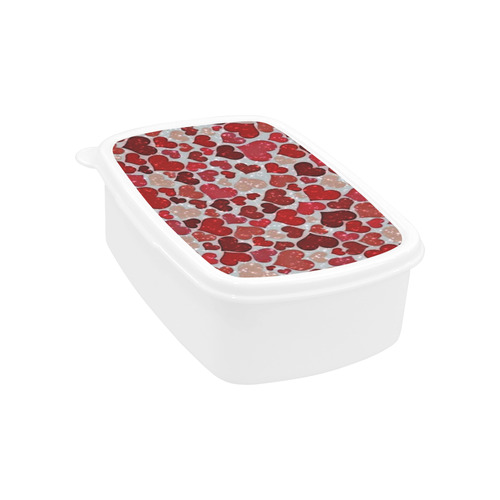 sparkling hearts, red Children's Lunch Box