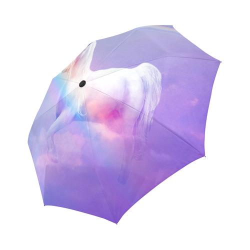 Unicorn and Rainbow Auto-Foldable Umbrella