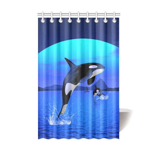 A Orca Whale Enjoy The Freedom Shower Curtain 48x72