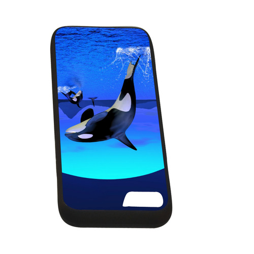 """A Orca Whale Enjoy The Freedom Rubber Case for iPhone 7 (4.7"""")"""