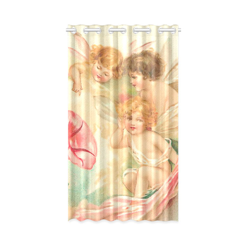"Vintage valentine cupid angel hear love songs New Window Curtain 52"" x 84""(One Piece)"