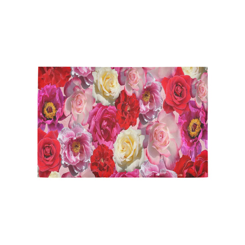 Bed Of Roses Area Rug 5'x3'3''