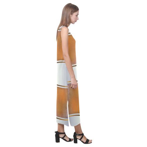 Dress In gold-Annabellerockz-2 Phaedra Sleeveless Open Fork Long Dress (Model D08)