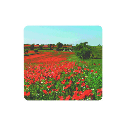 Field With Red Poppies Floral Landscape Women's Clutch Purse (Model 1637)