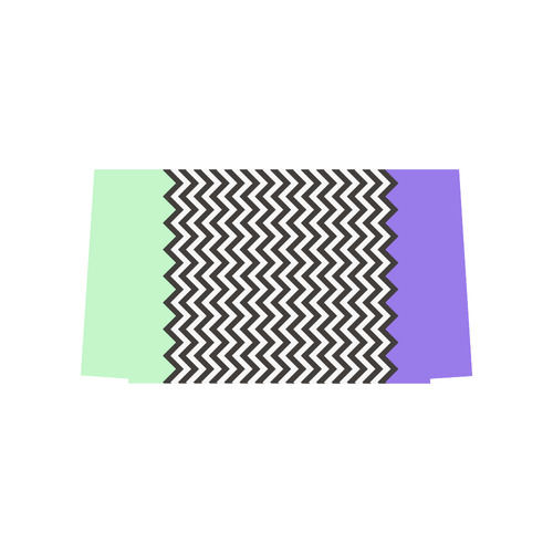 HIPSTER zigzag chevron pattern black & white Euramerican Tote Bag/Large (Model 1656)