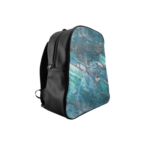 Marble - siena turchese School Backpack (Model 1601)(Small)