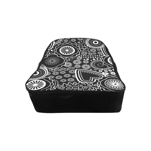 black and white pattern School Backpack (Model 1601)(Medium)