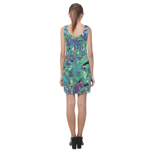 psycho-pop-fun 03C by JamColors Helen Sleeveless Dress (Model D10)