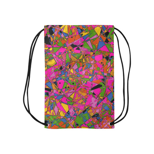 """psycho-pop-fun 03A by JamColors Small Drawstring Bag Model 1604 (Twin Sides) 11""""(W) * 17.7""""(H)"""