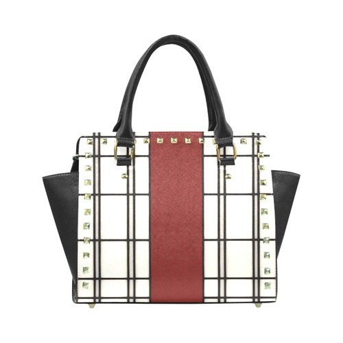Shoji - red Rivet Shoulder Handbag (Model 1645)