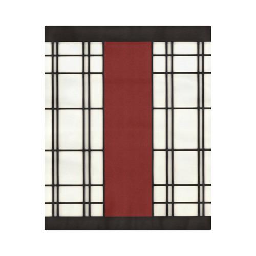 "Shoji - red Duvet Cover 86""x70"" ( All-over-print)"