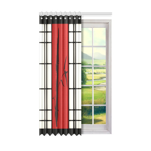 "Shoji - Bamboo Window Curtain 50"" x 84""(One Piece)"