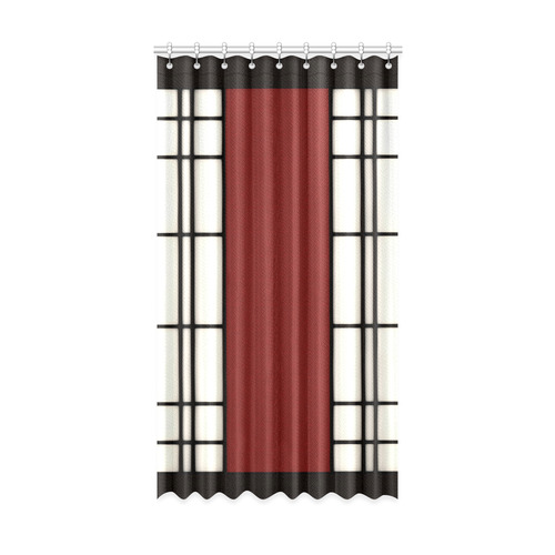 "Shoji - red Window Curtain 52"" x96""(One Piece)"