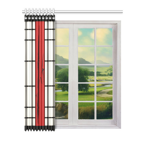 """Shoji - Bamboo Window Curtain 52"""" x 63""""(One Piece)"""