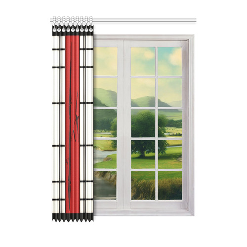 "Shoji - Bamboo Window Curtain 52"" x 72""(One Piece)"
