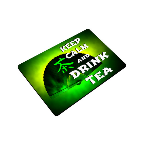 "keep calm and drink green tea Doormat 23.6"" x 15.7"""