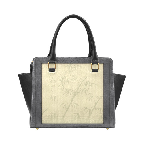 Tatami - Bamboo Rivet Shoulder Handbag (Model 1645)