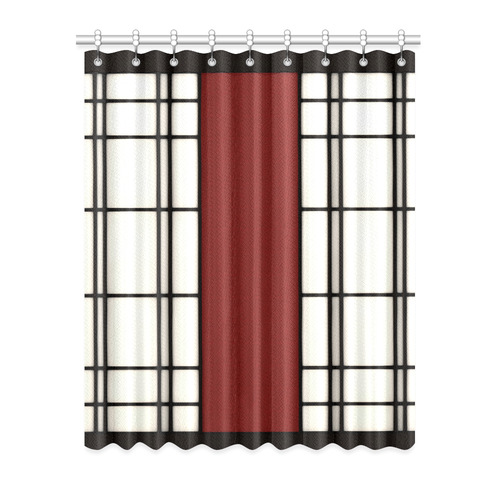 "Shoji - red Window Curtain 52"" x 63""(One Piece)"